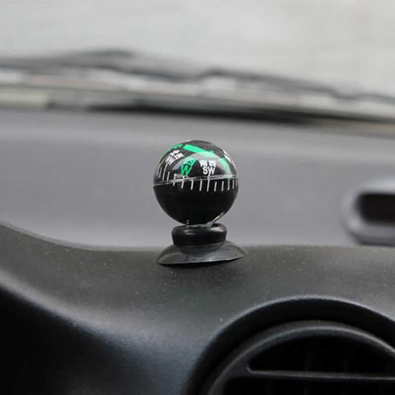 Car MINI Adsorption Compass Thermometer Direction Dashboard Guide Ball Car-styling Car Ornaments Vehicle Automotive Accessories