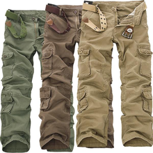 Top 28 46 Plus size Men Cargo Pants Loose Large Size Warm Pants Full Length Multi