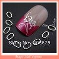 5x2.5mm Metal Nail Studs Silver Circles Rectangles jump hollow nail tips metalic 3d Nail Art Decorations 100pcs/lot