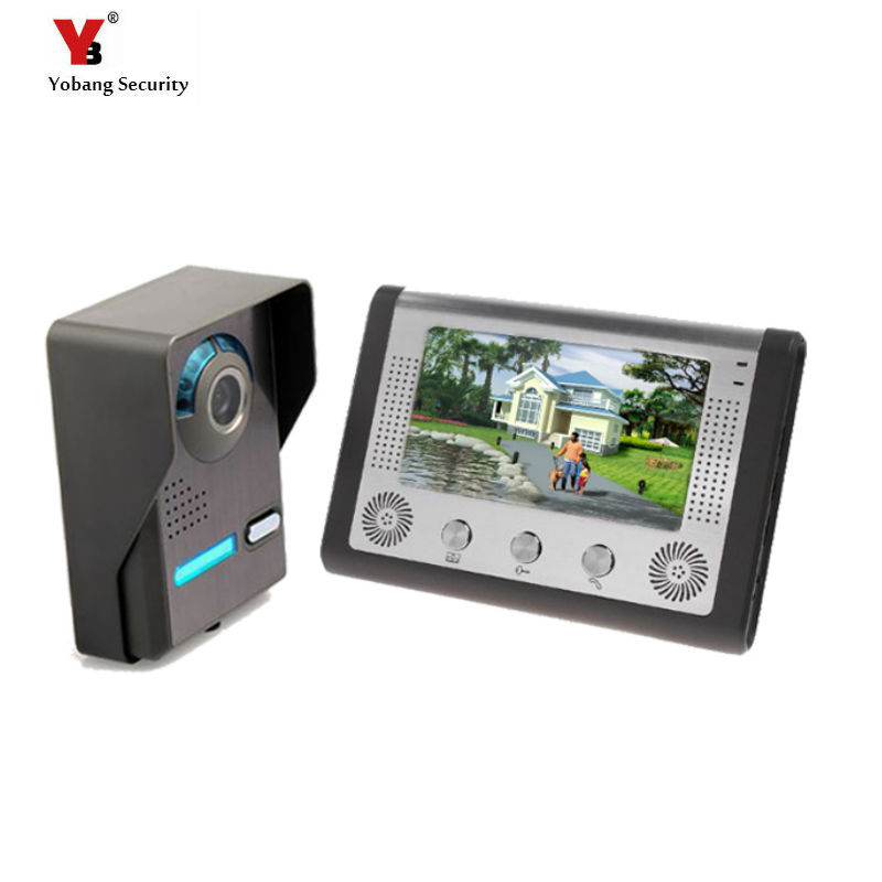 Yobang Security Video Intercom Doorphone 7 Color TFT LCD Video Door Phone Doorbell Intercom Night Vision Without Radiation hot sale tft monitor lcd color 7 inch video door phone doorbell home security door intercom with night vision