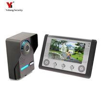 Yobang Security Video Intercom Doorphone 7″ Color TFT LCD Video Door Phone Doorbell Intercom Night Vision Without Radiation
