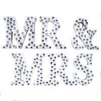 Wedding Reception Sign Solid Wood Plastic Board Letters MR MRS Table Decoration Set L50