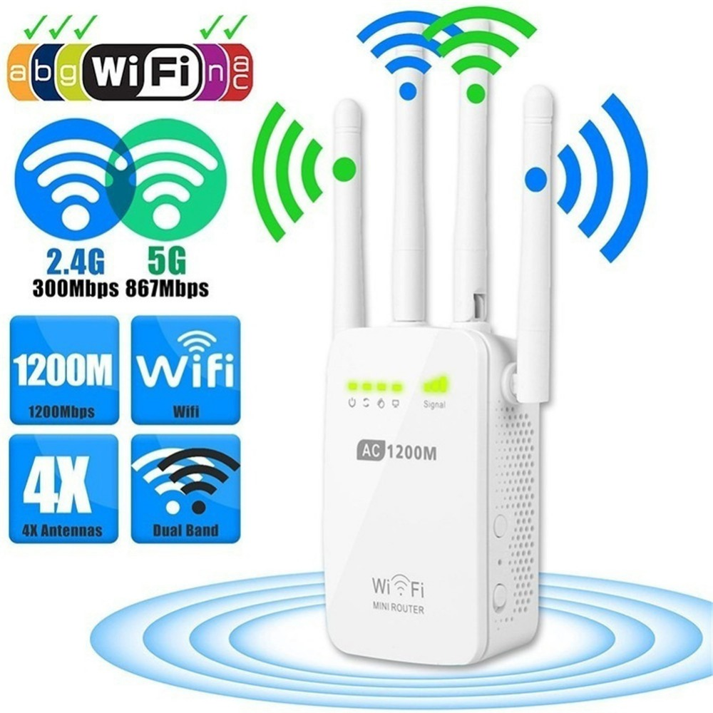 Wifi-Router Repeater Extender Dual-Band Wireless-Wifi Client-Access-Point-Network-Connect