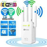 Répéteur/routeur/Point d'accès WIFI Wavlink 300/1200M amplificateur de Signal Wifi sans fil avec antennes externes