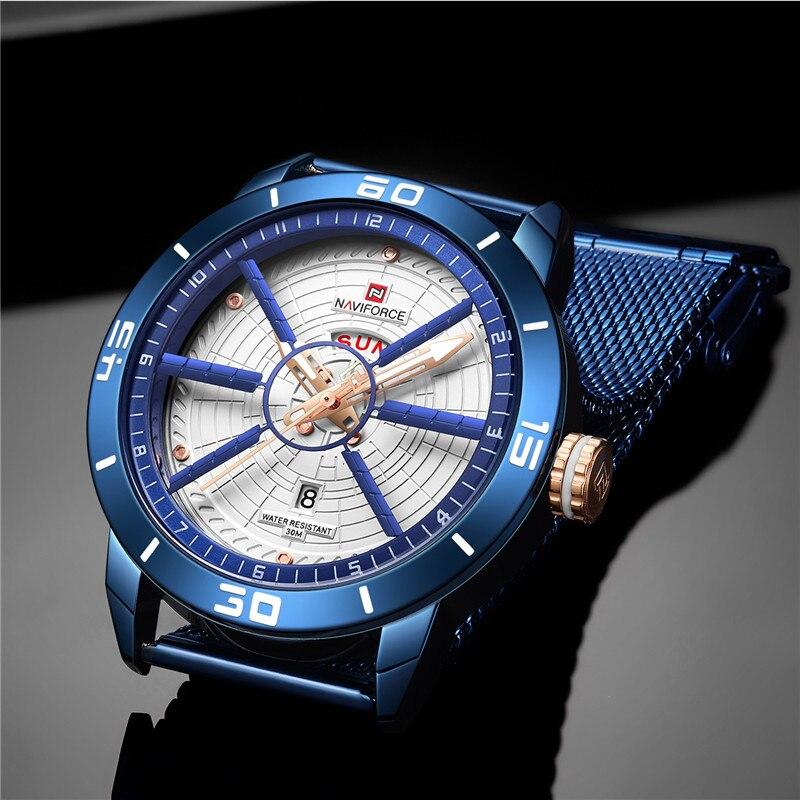 NAVIFORCE Mens Watches Top Brand Luxury Quartz Watch Men Full Steel Men Watch Sport Fashion Business Watches Relogio Masculino 4