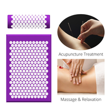 (68*42cm) Needles Head Massage Mat  Neck Pillow Back Foot Relaxation Massager Pad Acupuncture Cushion with bag 2019