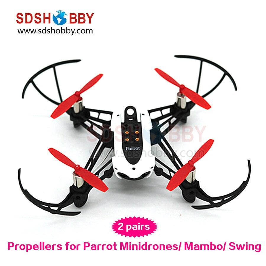 4 stücke Mini Propeller 2-blatt Requisiten für Parrot Minidrones Mambo Schaukel Kleine...