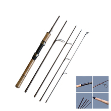 Ultra-light Carbon Fiber Portable 1.8M,2.4M Spinning Rod 5 Sections Lure  5-20 Bait Weight Hard Ocean Boat Fishing