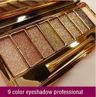 9 Colors Diamond Bright Eyeshadow Colorful makeup Eye Shadow Super Make up Set Flash Glitter Eyeshadow Palette with Brush
