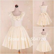 Custom-madeV-1272 Yellow sleeveless cotton Sweet School Lolita Dress  victorian 5b02ab28ed4c