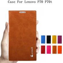 For Phone Lenovo p70 Cases,Luxury High Quality Genuine Cowhide Leather Fashion Book Style Case For Lenovo P70 P70t  Flip Cover