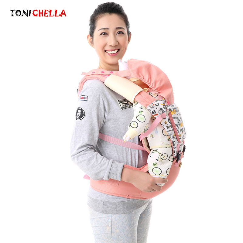 Baby Carrier With Hip Seat Infant Toddler Ergonomic Sling Backpack Bag Gear Waist Belt Protective Cap Double Shoulders BB3005 baby carrier new design kids waist stool walkers baby sling hold waist belt backpack hipseat belt kids infant hip seat zl438