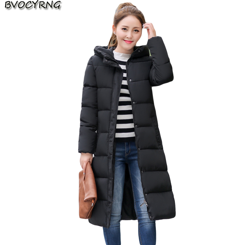 New Fashion Women Winter Coats Hooded Thickening Cotton-padded Jacket Outerwear Female Winter Long Warm Cotton Slim Parka Q789 children winter coats jacket baby boys warm outerwear thickening outdoors kids snow proof coat parkas cotton padded clothes