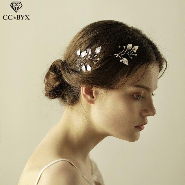 CC Hair Sticks Hairpins Combs Luxury Bridal Crown Crystal Leaf Design  Wedding Hair Accessories Marriage Party 4d4aee000347