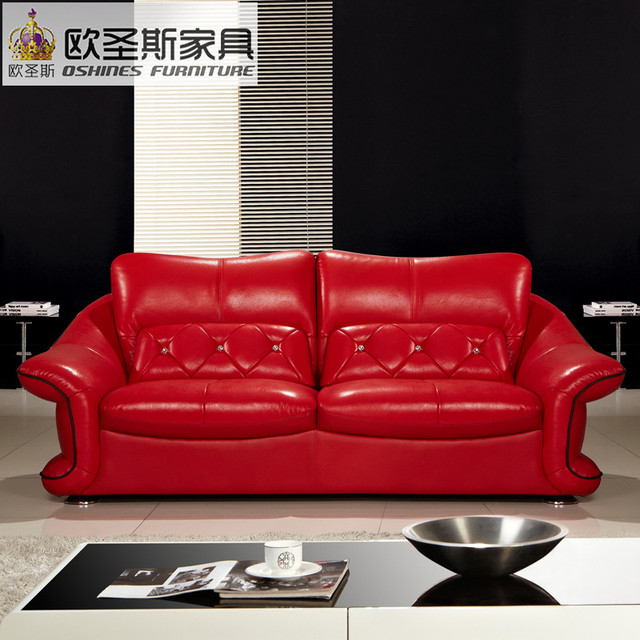 Cheap 2019 new design italy Modern leather sofa ,soft ...