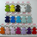 17PCS Mix Color Teddy Bear Suspender Clips