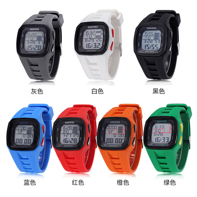 Shhors Brand Sport Digital Watch Men Silicone Watches LED Electronic Wristwatch Waterproof Clock Silicone Army Reloj Hombre 2017 10