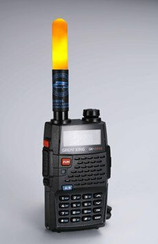 Luz led inteligente antena para radios de dos vías de banda dual de mano tamaño walkie talkie portátil LED antena