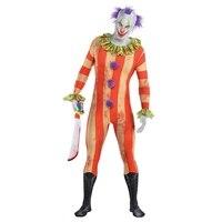 Teens Boys Psycho Killer Clown Party Suit Halloween Fancy Dress Party Costume