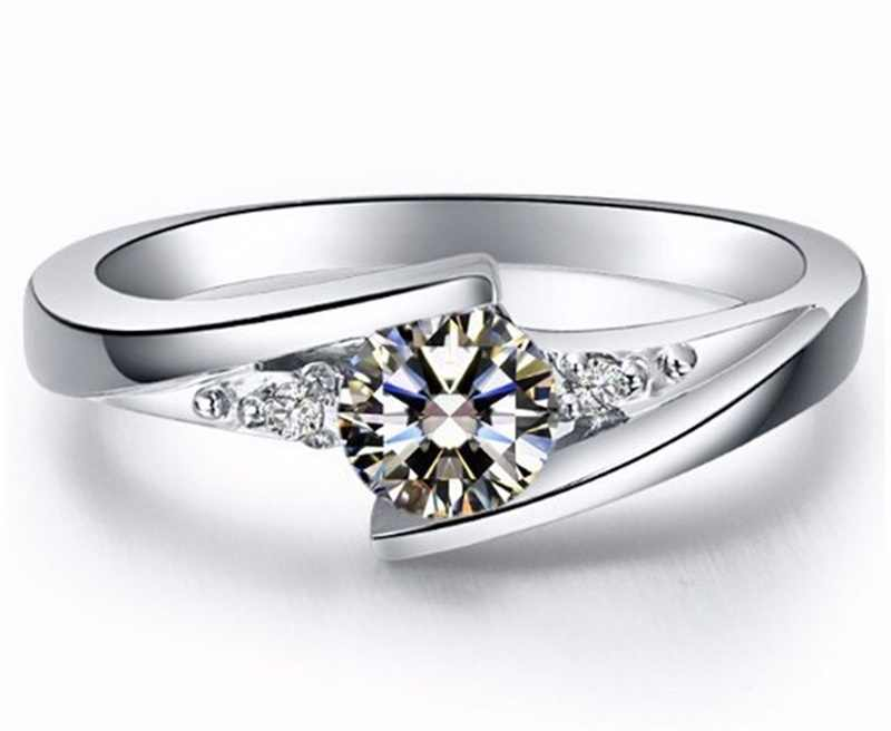 大きな熱い販売!!! yanhui 100%純粋な925スターリングシルバーリングセット高級0.75カラットczマントの結婚指輪R5036