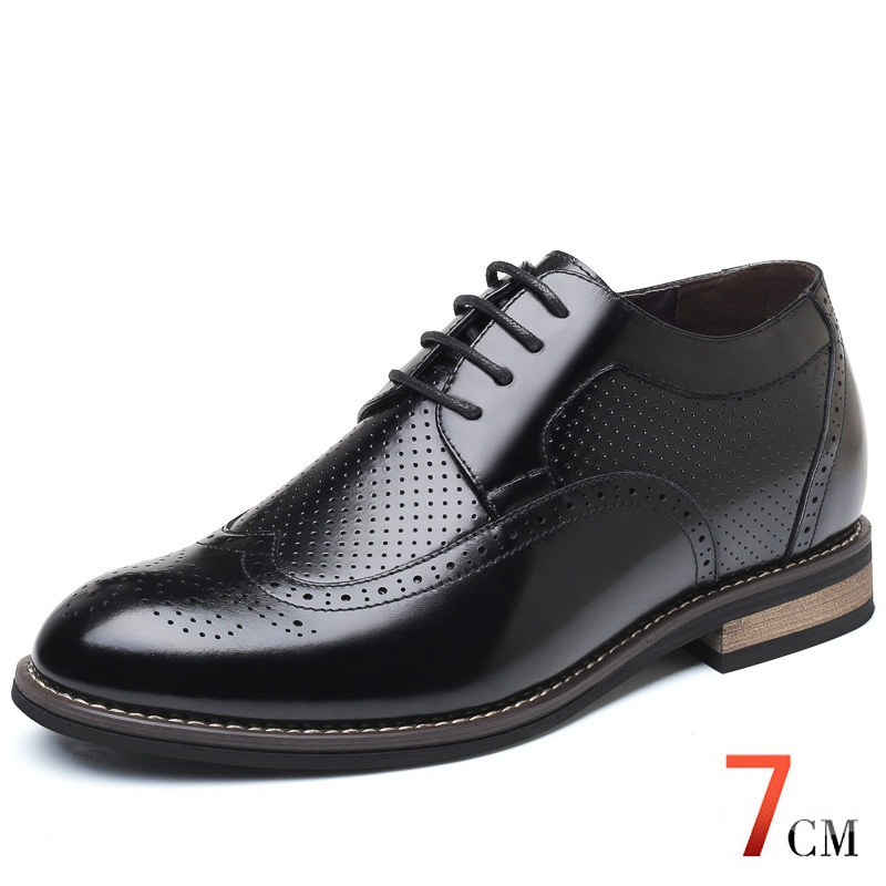 2018 Newest Men's Dress Height Increasing Elevator Shoes Increase high 7cm in Spring Summer chamaripa increase height 7cm 2 76 inch taller elevator shoes black mens leather summer sandals height increasing shoes