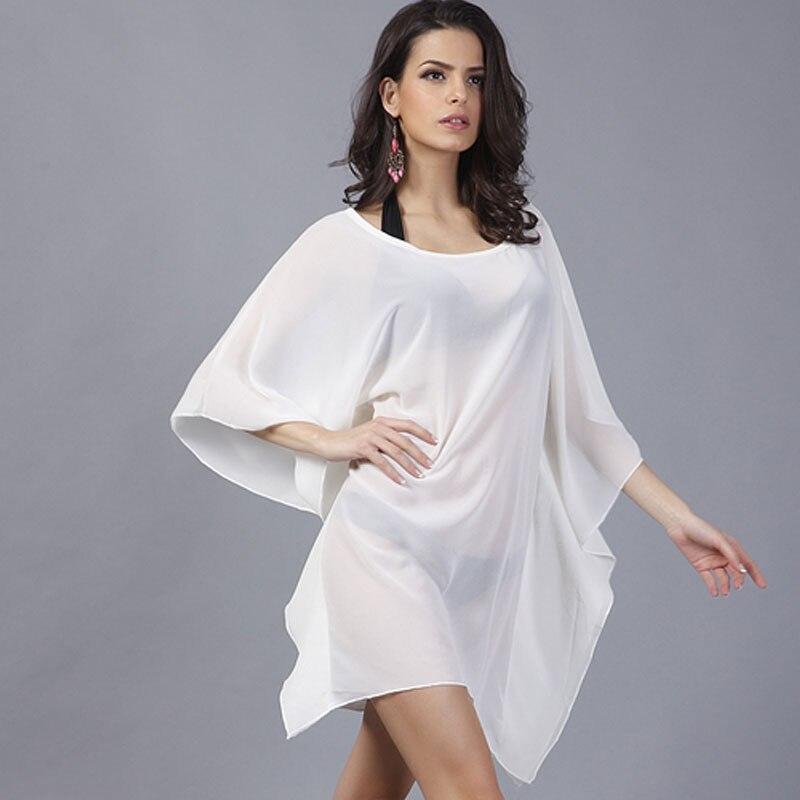 2016 Fashion Sexy Beach Dress Swimwear Women Chiffon Dresses Plus