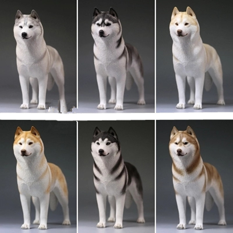 Creative World Famous Dog Home Furnishing Articles Colophony Crafts 1/6 Simulation Sled Dog Siberian Husky Animal Model Toy G920