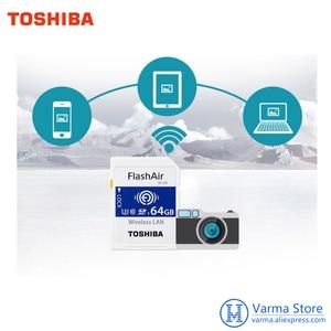 Image 5 - Toshiba WIFI SD thẻ tốc độ cao bộ nhớ máy ảnh SLR thẻ hỗ trợ 4 K không dây WIFI thẻ 32 GB