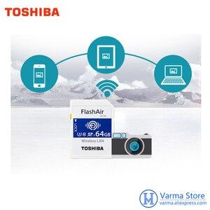 Image 5 - Toshiba wifi sd cartão de memória de alta velocidade slr câmera suporta 4 k sem fio wi fi cartão 32 gb