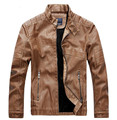 Male  leather short slim clothing men's motorcycle biker leather jacket cow skin leather coat