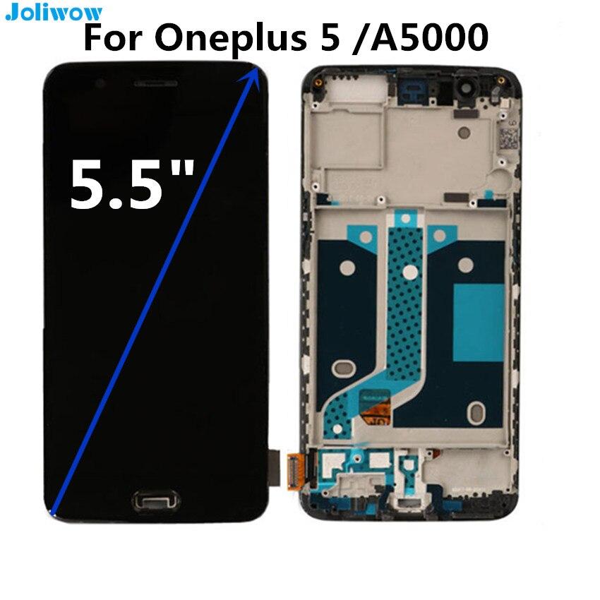Pour Oneplus 5 écran LCD et écran tactile + Cadre Digitizer Assemblée Remplacement Pour OnePlus 5 LCD A5000 Un Plus 5 écran LCD