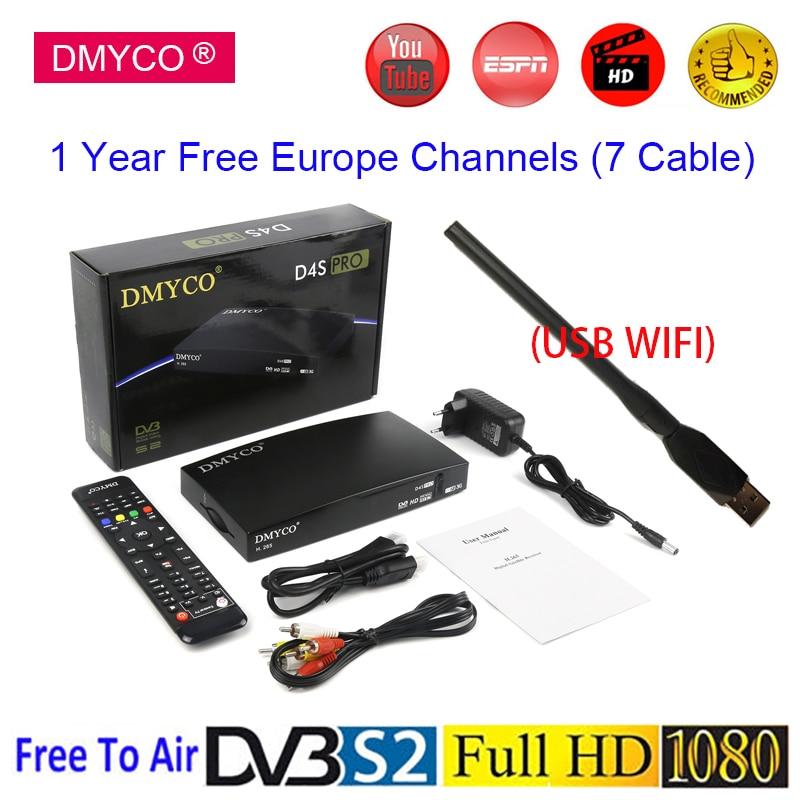New TV Receptor LNB DVB S2 Spain Satellite Receiver For Youtube 1080P H 265 TV Tuner