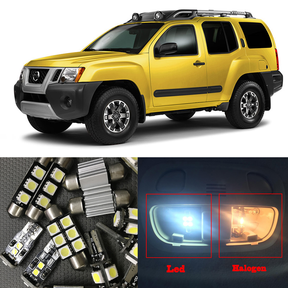 Compare prices on nissan xterra lights online shoppingbuy low for 2005 2015 nissan xterra 10pcs auto interior led light bulbs ultra bright led map vanachro Image collections
