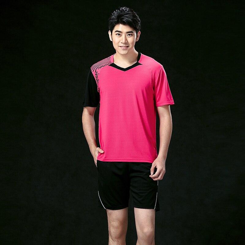 Оптовая продажа Бадминтон одежда Для мужчин, спортивные Бадминтон одежда, Теннис одежда рубашка + Шорты 5062