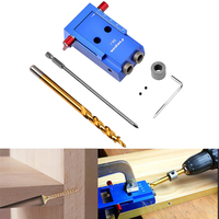 Pocket Hole Jig System Kit With 9 5mm HSS Step Twist Drill Bit Stop Stop Collar