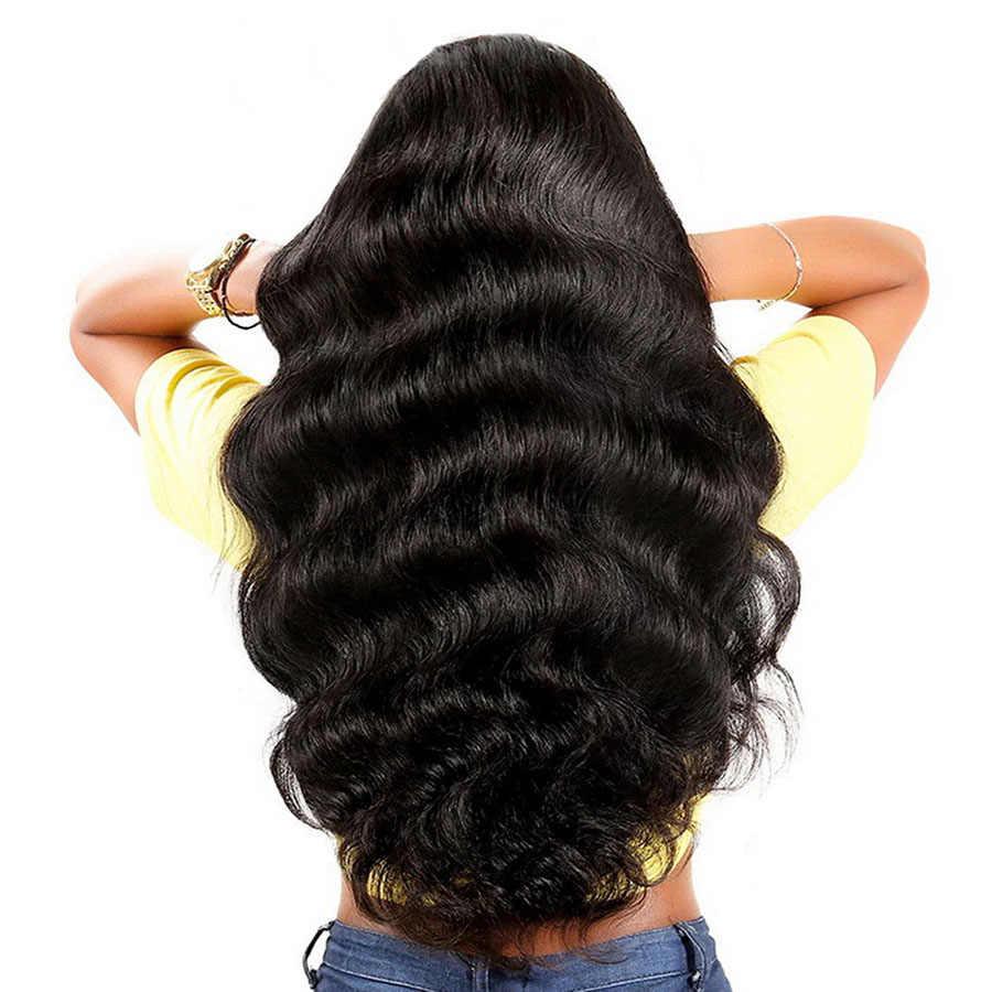 Парики из натуральных волос на кружевной основе для женщин, предварительно сорванные бразильские волосы из драгоценных камней, красивые Человеческие волосы Remy, волнистые парики из натуральных волос