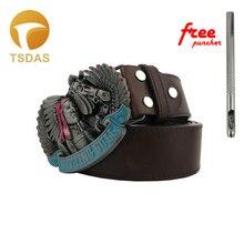 26843ccbc89 Livraison gratuite Cowboys boucle de ceinture en métal indien assis taureau  luxe hommes Designer indien boucle