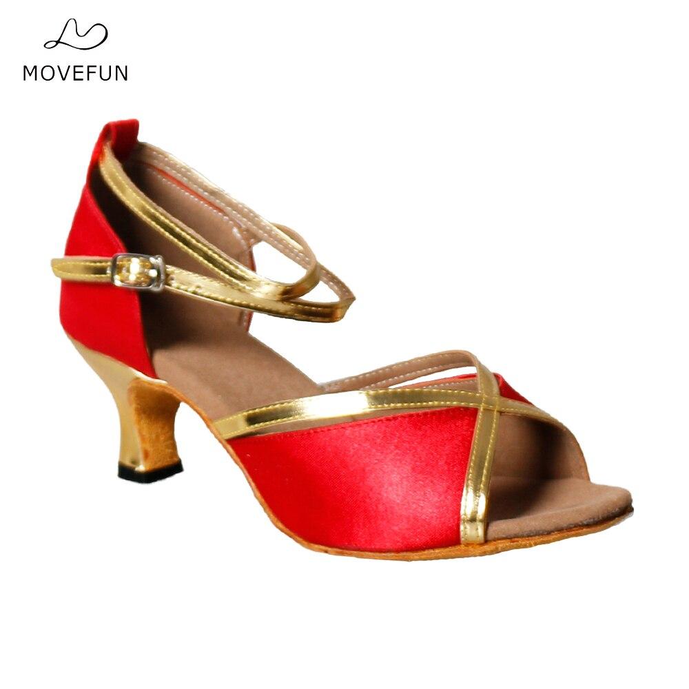 Hermes sandals dance shoes - Movefun Brand Summer 2017 New Ladies Latin Dance Shoes Women S Square Dance Sandals Adult Social Shoes Females 22 25 5cm 67