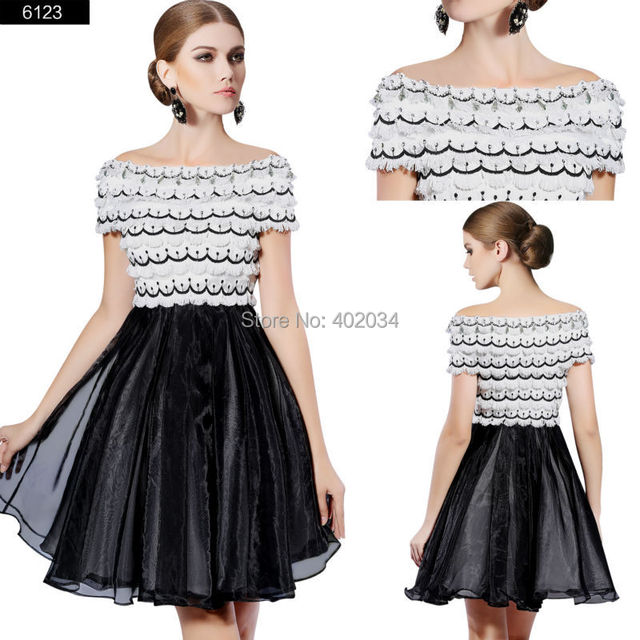 New Arrival prom series FREE SHIPPING short sleeves off shoulder ...