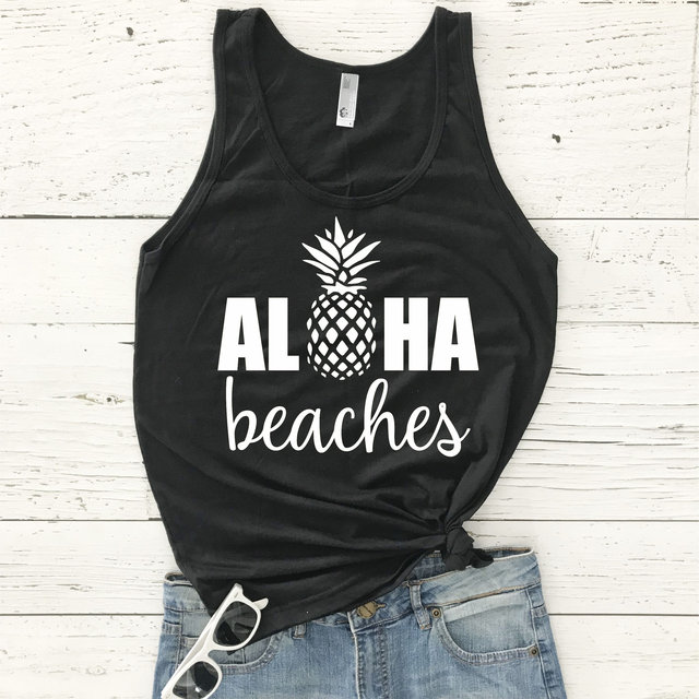b78a78220a New Women Tank Tops Summer Sleeveless Aloha Beaches Pineapple Racerback Tank  Tops Fashion Summer Casual O