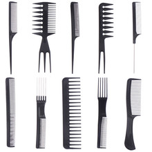 10Pcs/Set Hair Brush Set Makeup Combs Pro Comb Kits Hair Smooth Straightening Anti-Static Hair Care Hairbrush Hair Styling Tools