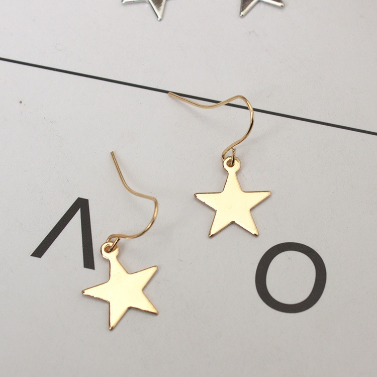 Star Shaped Stud Earrings Simplicity Handmade Copper Wire Earring ...