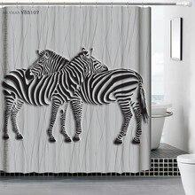 180×180 cm Polyester Rideau De Douche 3D Animal Cheval Cascade De Bain Paysage Imperméable Salle De Bains Rideau Cortina De Bano