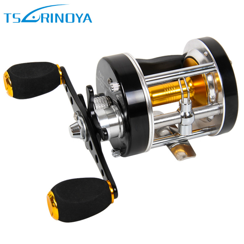 Trulinoya Left/Right Hand Baitcasting Reels 5.2:1 7+1BB Drum Fishing Reel Carretilha Pesca Ocean Saltwater Boat Trolling Fishing metal round jigging reel 6 1 bearing saltwater trolling drum reels right hand fishing sea coil baitcasting reel