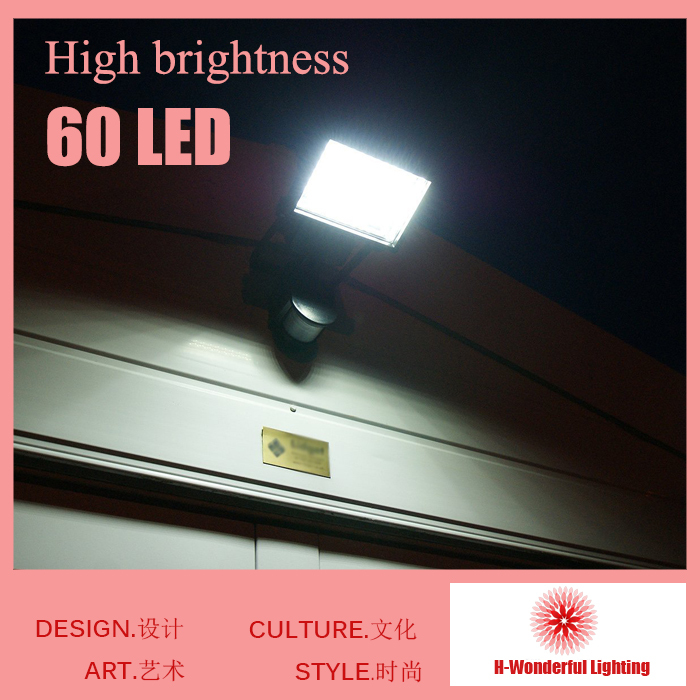 60pcs Led Solar lights Super Bright Outdoor Garden Light led Emergency Lighting for Household Lawn Lamp Wall Lamp Body Induction