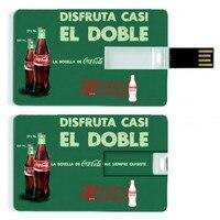 100 Pic/Lot 1 GB 4g 8g 16g kredi kartı USB Flash sürücü Pen drive olarak kişiselleştirilmiş özelleştirilmiş futbol takımı logo tasarım pendrive