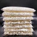 Полукруглые акриловые бусины с имитацией жемчуга цвета слоновой кости, 3-16 мм для самостоятельного изготовления ювелирных изделий/головных...