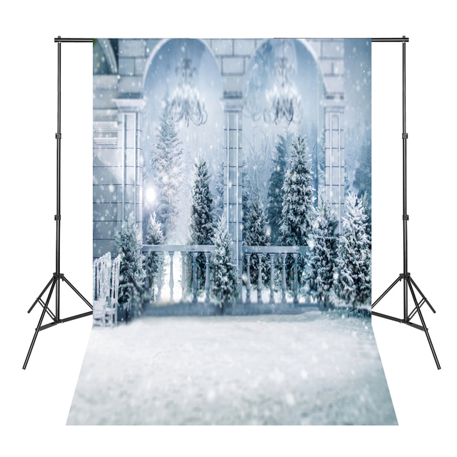 Christmas Backdrops For Photography Snowy Pines Photography Backdrops Photographic Background Studio  K-10223
