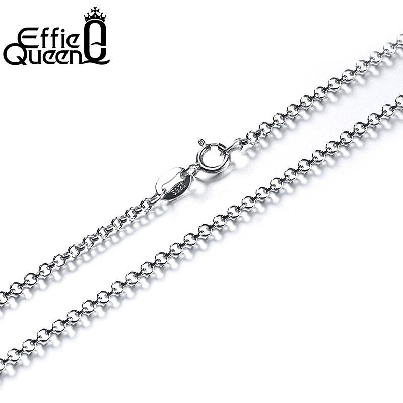 Effie Queen Unique Design Real 925 Sterling Silver Link