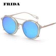 Moda 2016 más nuevas de montura de gafa gafas de sol redondas lentes de espejo de estilo / lente transparente Vintage gafas mujeres hombres gafas de sol gafas